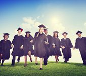picture of graduation  - Students Graduation Success Achievement Celebration Happiness Concept - JPG