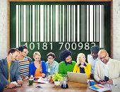 pic of encoding  - People Encoding Bar Code Coding Concept - JPG