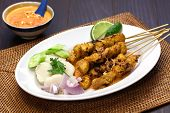 stock photo of sate  - chicken satay - JPG