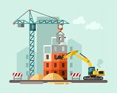 stock photo of construction machine  - Construction site - JPG