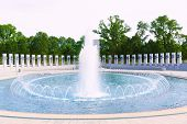 stock photo of memorial  - World War II Memorial in washington DC USA at National Mall - JPG