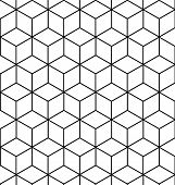 stock photo of floor covering  - VECTOR SEAMLESS GEOMETRIC PATTERN  - JPG