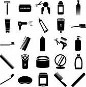 stock photo of grooming  - grooming symbols set - JPG