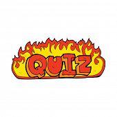 stock photo of quiz  - quiz sign cartoon - JPG