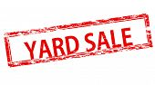 pic of yard sale  - Stamp with text yard sale inside vector illustration - JPG