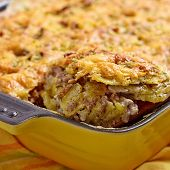 image of baked potato  - Baked Potato Gratin with Beef Ground Meat - JPG