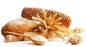 picture of spooning  - Fresh bread with wheat - JPG
