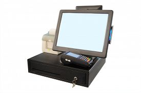 pic of thermal  - Point of sale touch screen system with thermal printer and cash drawer - JPG