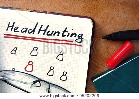 Notepad with Headhunting.