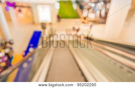 Image Of Escalators At The Modern Shopping Mall.