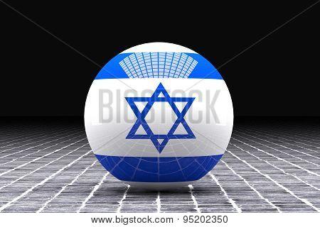 Israel Flag Sphere