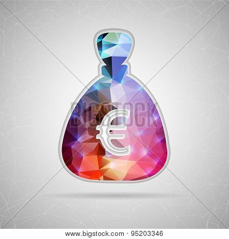 Abstract Creative concept vector icon of money bag for Web and Mobile Applications isolated on backg