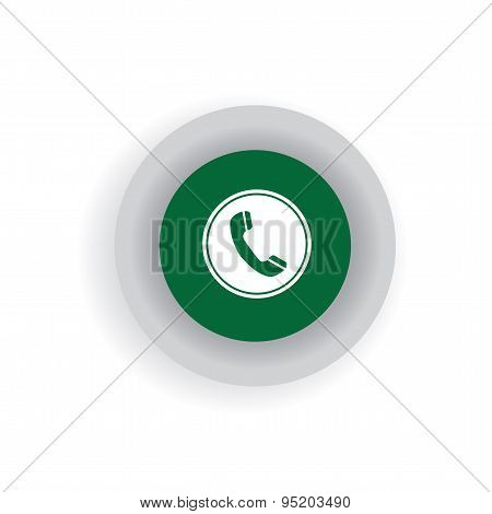 Flat Design Vector Icon Of Phone Receiver For Chat Interaction On Internet, Mobile Phones, Social Me