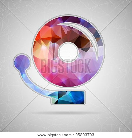 Abstract Creative concept vector icon of school bell for Web and Mobile Applications isolated on bac