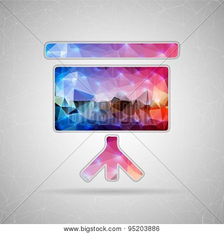 Abstract Creative concept vector icon of a poster from the projector for Web and Mobile Applications