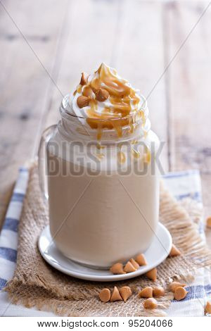 Caramel frappuccino with syrup
