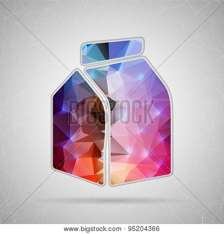 Abstract Creative concept vector icon of the milk carton for Web and Mobile Applications isolated on