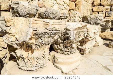 Stone ruins in the Turkish city of Demre