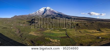 Overview Of Chimborazo And Surrounding Fields