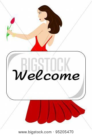 lady welcome
