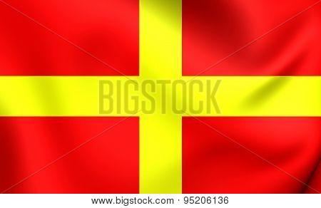 Flag Of Messina, Italy.