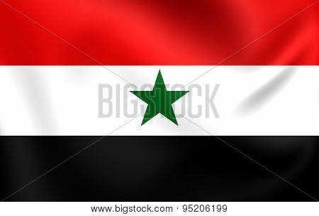 Flag Of North Yemen, Yemen Arab Republic (1962-1990).