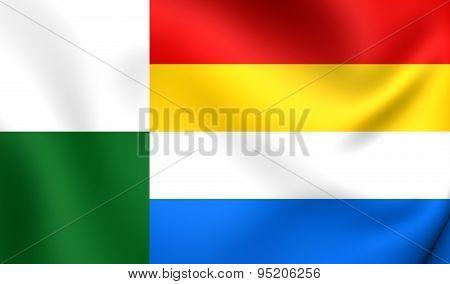 Flag Of Oss, Netherlands.