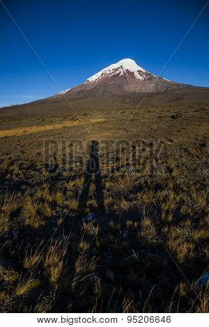 Chimborazo Volcano At Sunset