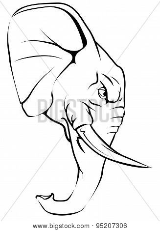 Elephant Mascot Character