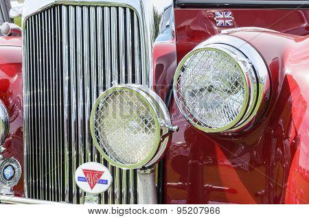 A vintage Alvis car.