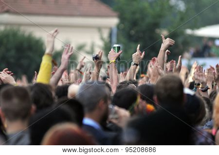 Crowd of people at a concert