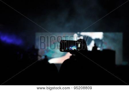 Smart phone recording a live concert