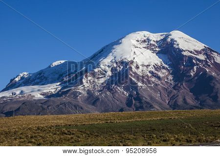 Chimborazo Volcano And Paramo