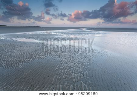 North Sea Coast At Sunrise