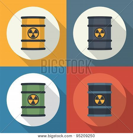Radioactive Waste In Barrels .