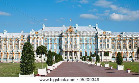 Tsarskoye Selo (Pushkin). Saint-Petersburg, Russia. The Catherine Palace