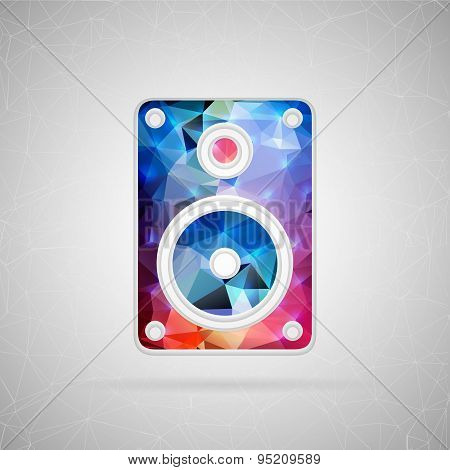 Abstract creative concept vector icon of music column. For web and mobile content isolated on backgr