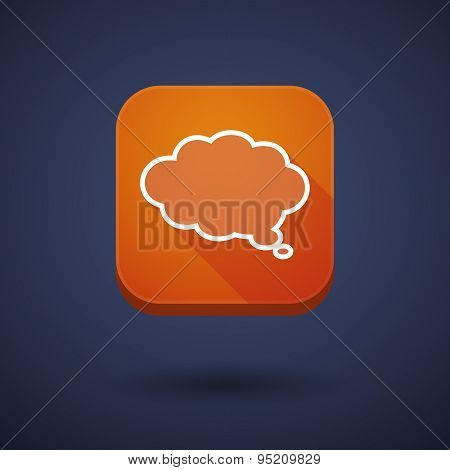 App Button With A Comic Cloud Balloon