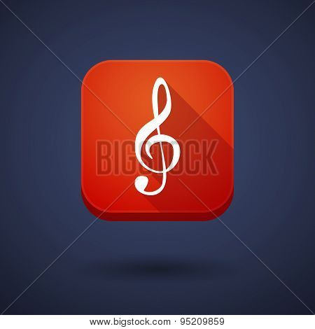 App Button With A G Clef