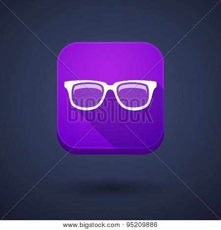 App Button With A Glasses