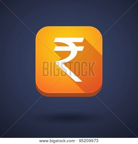 App Button With A Rupee Sign