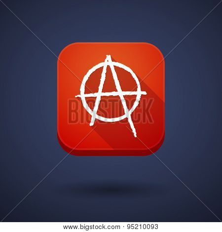 App Button With An Anarchy Sign