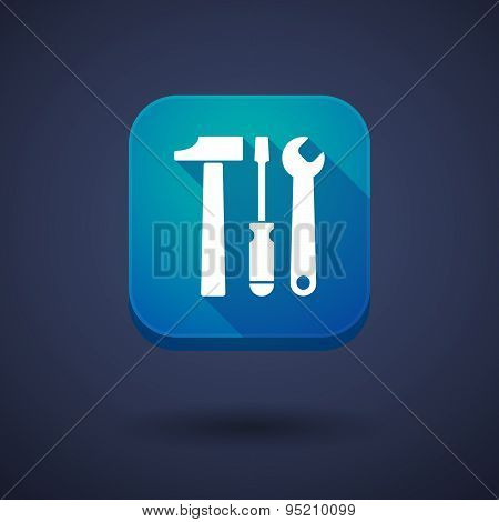 App Button With A Tool Set