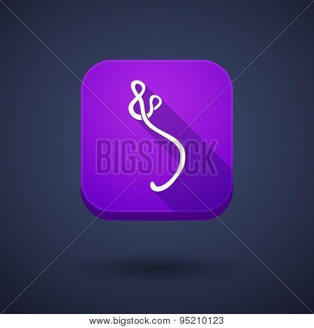 App Button With An Ebola Sign