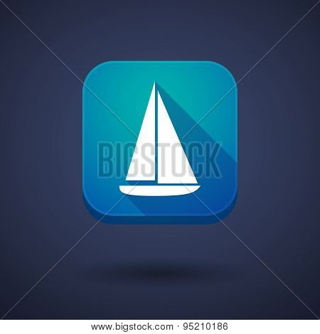 App Button With A Ship