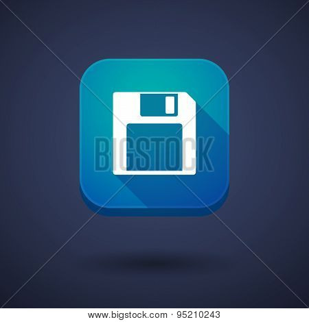 App Button With A Floppy Disk
