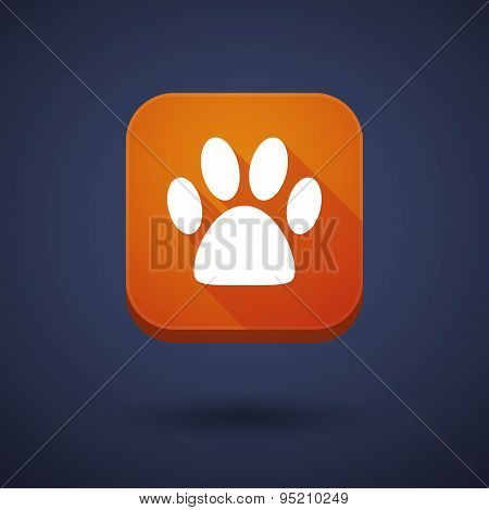 App Button With An Animal Footprint
