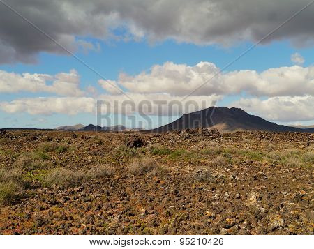 The hills near the village Pozo Negro on Fuerteventura