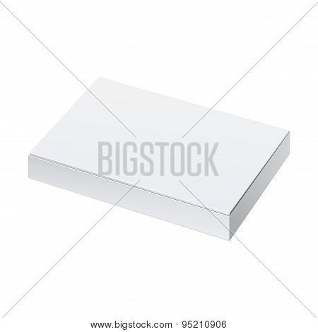 Realistic White Package Box. For Software