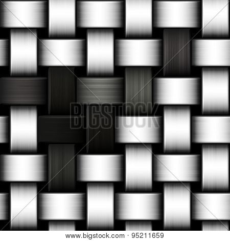 Grayscale Knitted Background
